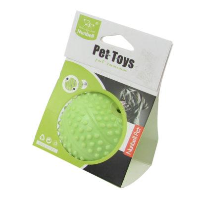 παιχνιδι μπαλα με ηχο για σκυλους πρασινη