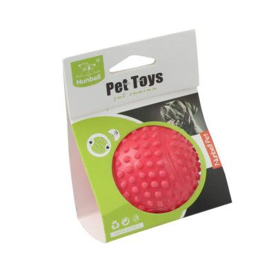 παιχνιδι μπαλα με ηχο για σκυλους κοκκινη