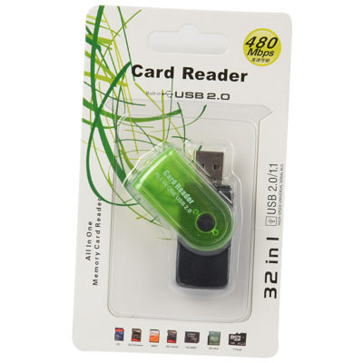 card reader usb prasino