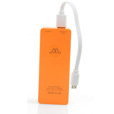 power bank 6000mAh portokali