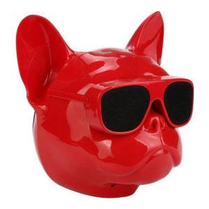 hxeio bluetooth mini bulldog kokkino