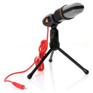mikrofono ypologisth me tripodo