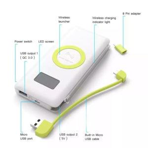 leyko powerbank 10000 mah gia android iphone