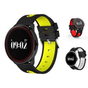 smartwatch me bluetooth kai metrhseis gymnastikis