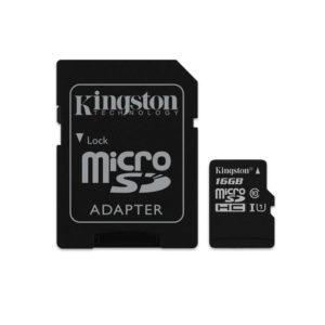 karta micro sd 16gb me adaptor sd kingston