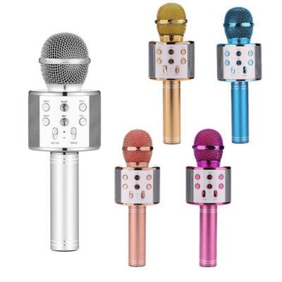 asyrmato mikrofono karaoke me ensomatomeno hxeio se polla xromata