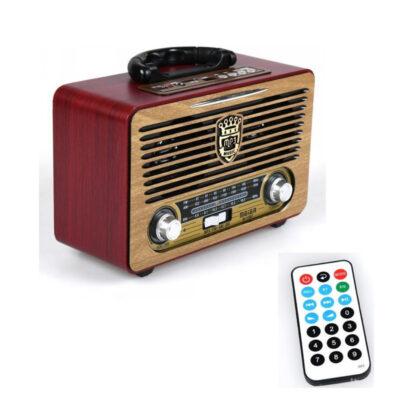forhto retro radiofono hxeio bluetooth me radio kai ypodoxes karton