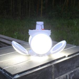 lpampa led poy fortizei me hliakienergeia panel