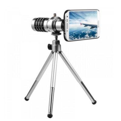 fakos kameras kinhton me tripodo kai megalo zoom