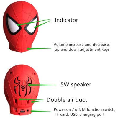 mini asyrmato bluetooth hxeio spiderman