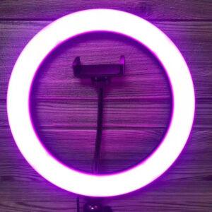 daxtylidi led ring light me polla epipeda fotismou
