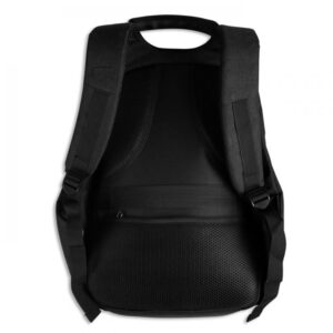 mayro backpack sakidio gia laptop me polles thikes
