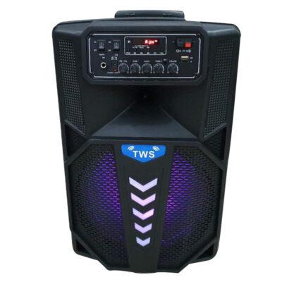 forhto hxeio karaoke me mikrofono 800w me usb tf aux kai thlexeiristhrio