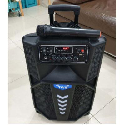 forhto hxeio karaoke me mikrofono led fota dynato hxo kai thlexeiristhrio bluetooth