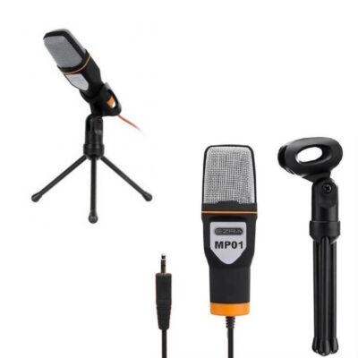 epaggelmatiko mikrofono sympiknosis 3.5mm me tripodo