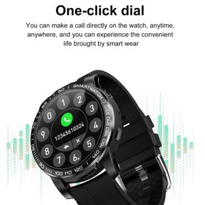 stroggylo mayro smartwatch me ypenthimisi klhseon sms
