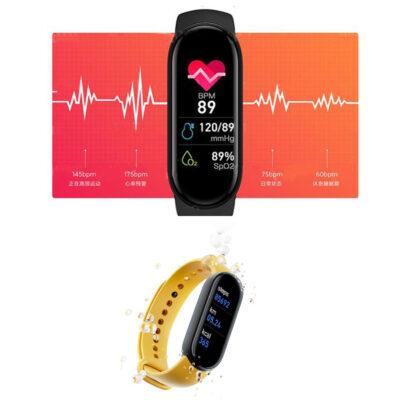 roloi fitness tracker smartband me diafores metrhseis