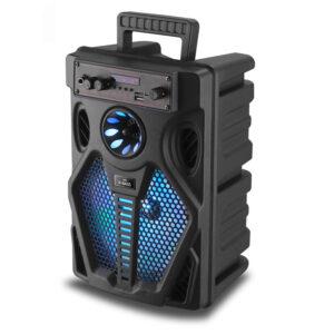 asyrmato hxeio bluetooth karaoke me mikrofono kai thlexeiristhrio