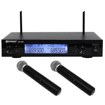 psifiaki syskeyh gia karaoke me 2 asyrmata mikrofona