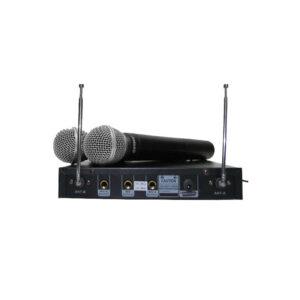 aytonomo psifiako systhma karaoke me 2 asyrmata mikrofona