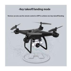 mayro thlekateuthinomeno drone me kamera kai koumpi epistrofhw