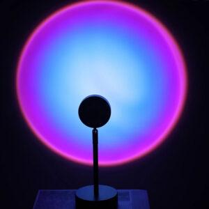 rainbow lamp metalliki me kalodio usb