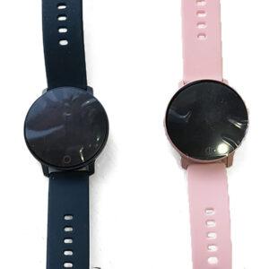 bluetooth smartwatch me othoni afis oled mple kai roz