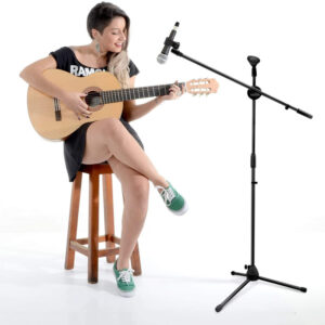 epekteinomenh vasi gia 2 mikrofona me tripodo